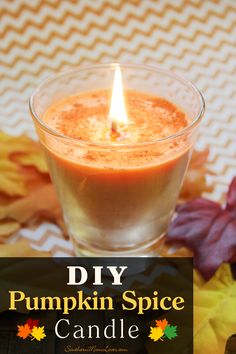 Make Your Own DIY Pumpkin Spice Candles This Fall! Guess what, guys? It's time for Pumpkin Spice everything! Many have been eagerly awaiting the delicious treats that become available this … Pumpkin Spice Candle, Pumpkin Candles, Fall Candles, Pumpkin Spice Latte, Soy Candles, Candle Jars, Pumkin Pie, Candle Holders, Diy Candles Scented