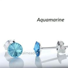 Ebay-bp_natural_uk-925 Sterling Silver Stud Earrings RIVOLI 6mm Crystals from Swarovski®-Aquamarine-$3.69