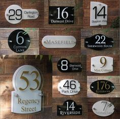 Modern House Sign Door Number Street Name Address Plaque Glass Effect Acrylic #HouseSignSolutions #Modern