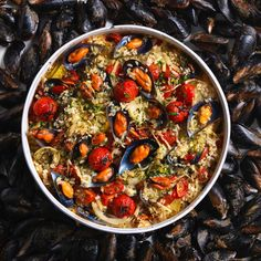 This dish comprising rice, potatoes, and mussels is a staple of Puglia.