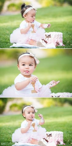 1 year Portraits + cake smash photography in the park! | KMH Photography | Las Vegas, NV