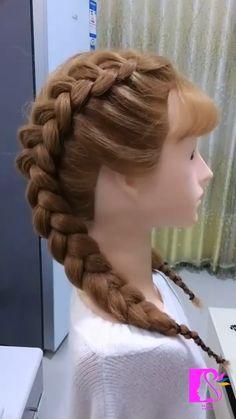 Hairdo For Long Hair, Easy Hairstyles For Long Hair, Braided Hairstyles Tutorials, Girl Hairstyles, Protective Hairstyles, Hairstyles Videos, Braided Hairstyles For Wedding, Front Hair Styles, Medium Hair Styles