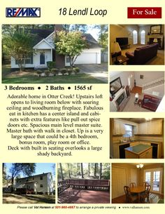 Absolutely stunning one level home on nearly acre lot. It has a deck that opens to a private green belt. Oversized garage with an in-ground tornado shelter. Tornado Safe Room, Otter Creek, One Level Homes, Prep Sink, Upstairs Loft, Gas Logs, Green Belt, Built In Cabinets, Little Rock