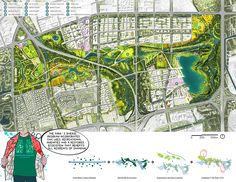 """Zhangjiabang is the first of Shanghai's eight planned """"green wedges"""", and will become the city's largest public park. Landscape Services, Landscape Plans, Landscape Architecture, Landscape Design, Leeds, Urban Heat Island, Wetland Park, Urban Fabric, Urban Park"""