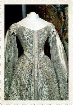 Kremlin Museum Textile; Coronation dress of Empress Alexandra Feodorovna. 1896. Russia