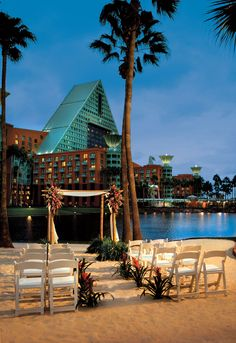 Walt Disney World Swan and Dolphin Resort.  Used to speak at an annual conference on managing call centers in the late 90's.  Stayed here a few times in maybe 2000.  Always remember it being walking distance to Epcot and the ESPN bar on the boardwalk.  Good times.