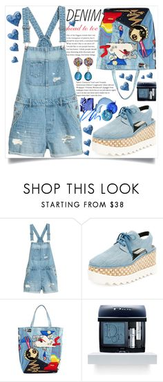 """all denim, head to toe"" by teto000 ❤ liked on Polyvore featuring STELLA McCARTNEY, Marc Jacobs, Christian Dior, Margot McKinney, denim and alldenim"