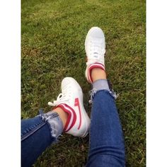 Comfortable White and Red Lace up Casual Canvas Shoes Hui Li Sneaker you best choice for School, Going out -TOP Design by FSJ Red Lace, Lace Up, Strappy Heels, Shoes Heels, Flats, Going Out Tops, Classy And Fabulous, International Fashion, Loafers For Women