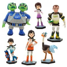 Disney Miles from Tomorrowland 6-Piece Figurine Playset Cake Toppers