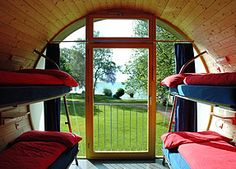 There are many kinds of unusual accommodation to choose from if you're looking to sleep outside the usual hotel box. We loved the Swiss Tube Hotel in Thun. Thun Switzerland, Travel Agency Website, Cabin Tent, Container House Design, Cool Countries, The Places Youll Go, Shelter, Lake Thun, Micro Homes