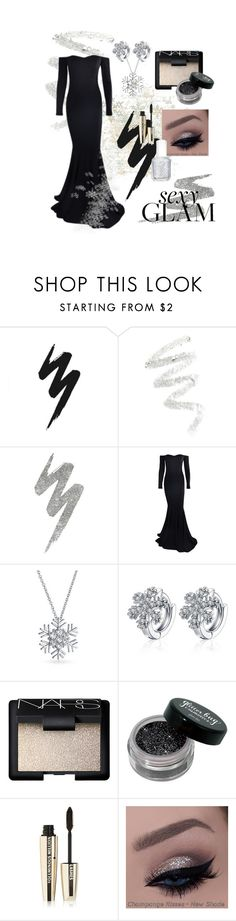 """""""Holiday Party"""" by minkycotton ❤ liked on Polyvore featuring beauty, Urban Decay, Cynthia Rowley, Bling Jewelry, NARS Cosmetics, L'Oréal Paris and Essie"""