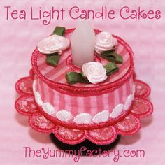 e00d70e6912 Tea Light Candle Cake. Perfect for a little Birthday Party. All done in the