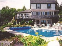 Brooklin Cottage Rental: Flying Jib: Half Traditional, Half New Cottage With Pool Cottages With Pools, Blue Hill, Private Pool, Jacuzzi, Swimming Pools, Family Room, Deck, Patio, Smoke