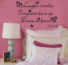 Laughter is Timeless Imagination has no age by mycompanydecals