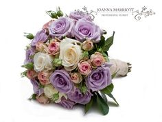 Mauve, pink and cream rose Bridal Bouquet