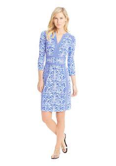 Lola Dress In Muirfield in LIGHT BLUE/BLUE/MARINE by J.McLaughlin