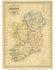 Many New England families and towns trace their ancestry to the Emerald Isle. This is the 1837  Malte-Brun Map