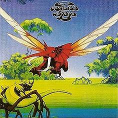 Roger Dean and his elephant fly