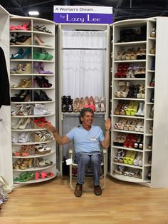 AmeriClosets is One of Florida's Leading Distributors of Closet Organizers, Custom Closets & Closet Design - Servicing Florida and Beyond for Over 11 Years! Closet Storage Systems, Closet Organization, Organizing, Walk In Closet, Shoe Closet, Ideas De Closets, Closet Ideas, Spinning Shoe Rack, Organiser Son Dressing