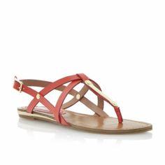 STEVE MADDEN Bright HENNA - Metal Detail Strappy Toe Post Sandal