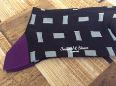$35 Retail! $17.50 #SALE  Seaward & Stern Mercersised Cotton Socks 9-11.5 Black Geometric Style NEW #SeawardStern #Dress