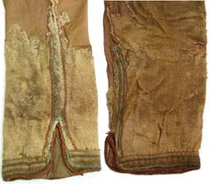 "Skjoldehamn decorated trouserlegs (Radiocarbon dated to about 995-1029 CE) see ""Dan Halvard Løvlid: Nye tanker om Skjoldehamnfunnet"" p110 and drawing p108"