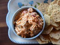 Get Jalapeno Pimento Cheese Recipe from Food Network Pimento Cheese Recipe Pioneer Woman, Recipes Appetizers And Snacks, Appetizer Dips, Yummy Appetizers, Brunch Recipes, Desserts, Food Network Recipes, Food Processor Recipes, Postres