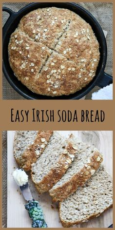 soda bread Irish Soda Bread is a rustic and hearty quick bread that is easy to make and perfect for getting a fresh warm loaf on the table in a hurry. Irish Desserts, Irish Recipes, Bakery Recipes, Bread Recipes, Yeastless Bread Recipe, Irish Soda Bread Recipe, Baking Soda Bread Recipe, Dessert Bread, Food Blogs