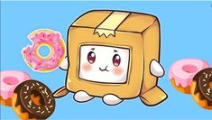 Boxy gets his donuts! Foxy Wallpaper, Plant Zombie, Park Jimin Cute, Cute Images, 5th Birthday, Animation, Lava, Donuts, Box