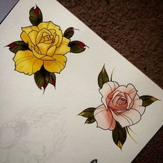 53 Ideas Drawing Tattoo Sketches Fashion Illustrations For 2019 Neo Traditional Roses, Traditional Rose Tattoos, American Traditional, Tattoo Sketches, Tattoo Drawings, Tattoo Ink, Drawing Sketches, Drawing Style, Tattoo Flash