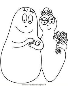 Disegni da colorare - Barbapapa e signora
