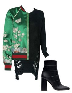 """Simple Gucci Bomber"" by aayeshaofficial on Polyvore featuring Gucci and Zara"