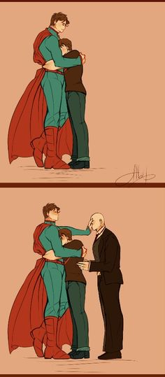 Fathers Day. Superman, Superboy, Lex Luthor. This is great xD