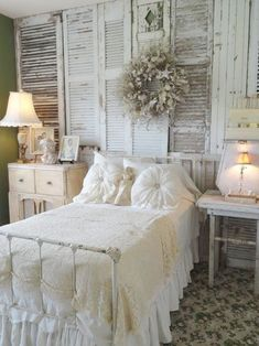 Rustic Homemade Shabby Chic Wall Decor   Shutters Wall Decor by DIY Ready at