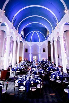 Cosy Royal Blue Wedding Reception