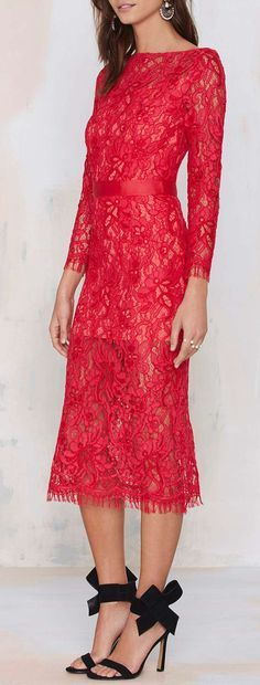 Nasty Gal Because the Night Lace Dress - Going Out Dress Skirt, Lace Dress, Dress Up, Dress Prom, Red Fashion, Womens Fashion, Valentines Day Dresses, Glamour, Cute Dresses