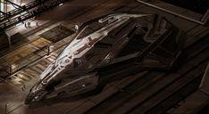 concept ships: Spaceship art by Lewis Fischer
