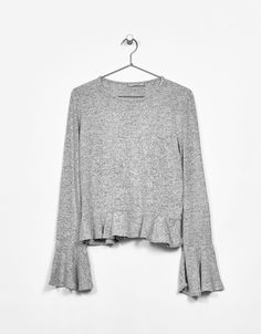 Sweater with frilled cuffs - Jumpers - Bershka Lebanon