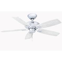 "Hampton Bay Gazebo II 42 in. Indoor/Outdoor White Ceiling Fan - 2nd floor porch (use light from 52"" front porch fan)"