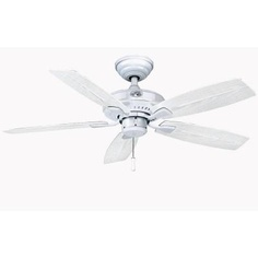 "Hampton Bay Gazebo II 42 in. Indoor/Outdoor White Ceiling Fan - 2nd floor porch (use light from 52"" front porch fan)"