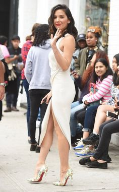 Olivia Munn from The Big Picture: Today's Hot Photos  Munn stuns! The actress turns heads in a white, slitted dress in NYC.