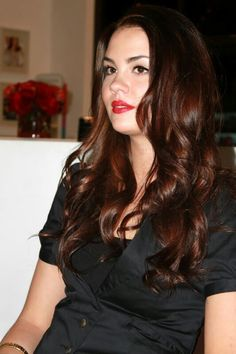 Warm reddish brown hair