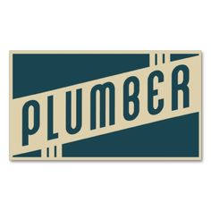 retro plumber business cards. Make your own business card with this great design. All you need is to add your info to this template. Click the image to try it out!
