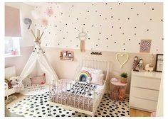 Big Girl Bedrooms, Girl Bedroom Walls, Little Girl Rooms, Nursery Room, Nursery Decals Girl, Nursery Wall Murals, Nursery Decor, Toddler Room Decor, Toddler Rooms