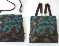 backpack purse converts to messenger, blue and brown tote bag, crossbody bag, shoulder handbag, everyday bag Backpack Purse, Tote Bag, Crossbody Bag, Ipad, Nyc, Shoulder Handbags, Shoulder Bag, Everyday Bag, Zipper Bags