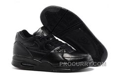 c0c07e0a02779 Nike Air Flight  89 All Black Leather Basketball Shoes For Sale New Arrival