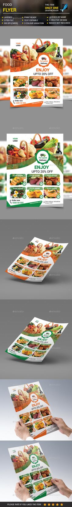Food Menu Flyer Template PSD