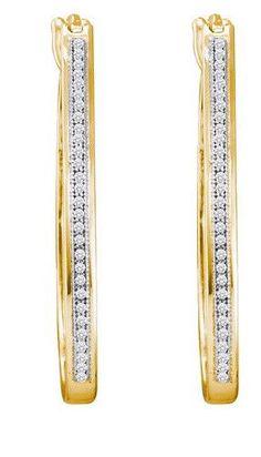 1/6CT-Diamond MICRO-PAVE HOOPS