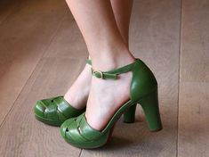 Cute green shoes