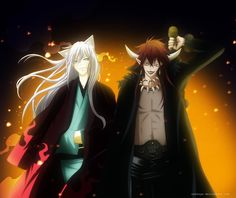 Is this friendship? I think so :D by Zakuuya.deviantart.com on @DeviantArt  Tomoe and Akura-ou from Kamisama Hajimemashita manga / anime